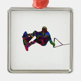 Wakeboarder Wild Colors Metal Ornament