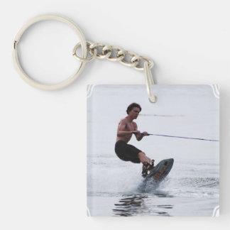 wakeboarding-47 acrylic key chain