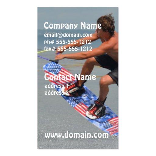 Wakeboarding Fun Business Card