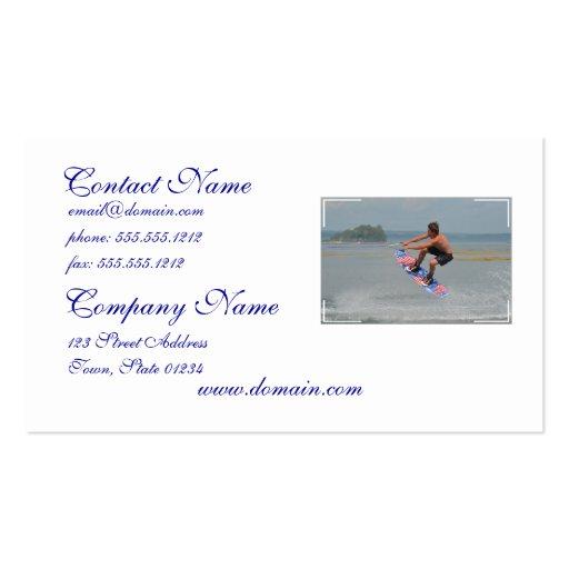 Wakeboarding Fun Business Card Template