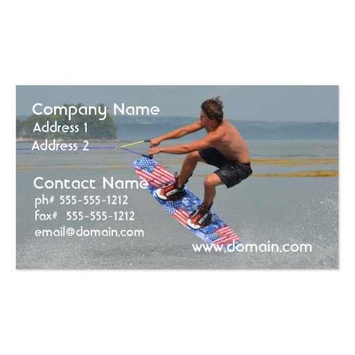 Wakeboarding Fun Business Cards