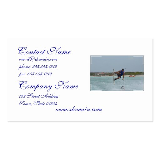 Wakeboarding Grab Business Cards