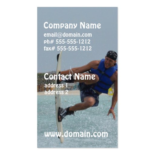 Wakeboarding Grab Business Card