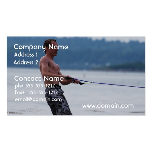 Wakeboarding on Ocean Business Cards