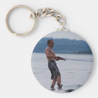 Wakeboarding on Ocean Keychain