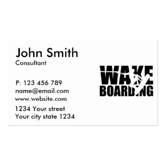 Wakeboarding Pack Of Standard Business Cards
