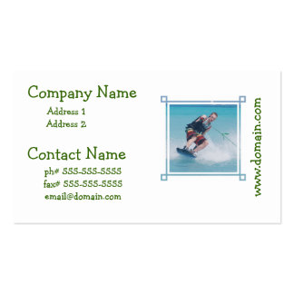 Wakeboarding Tail Grab Business Cards