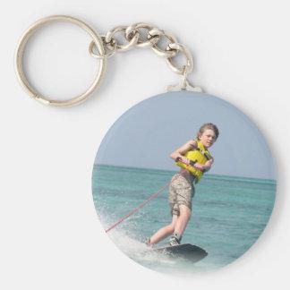 Wakeboarding Teen Keychain