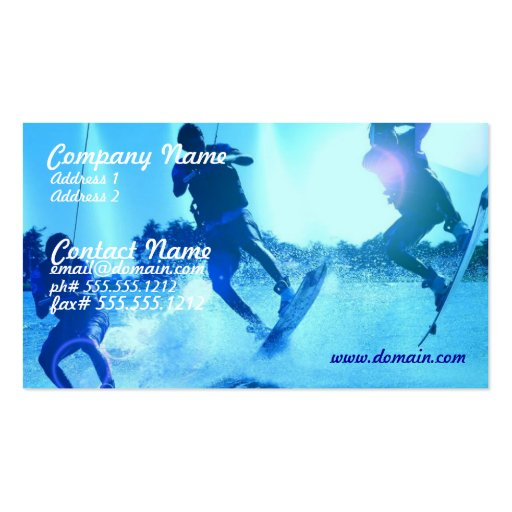 Wakeboarding Trio Business Card