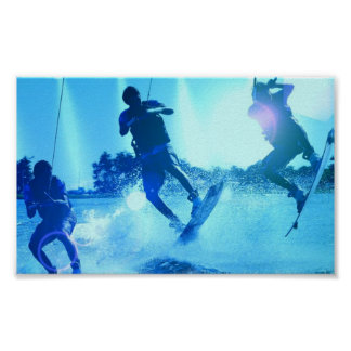 Wakeboarding Trio Posters