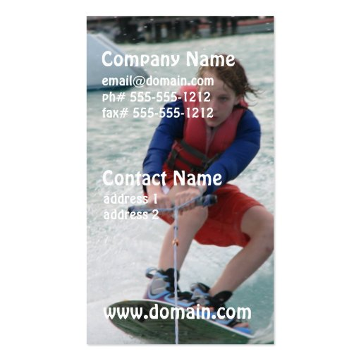 Wakeboarding Youth Business Card