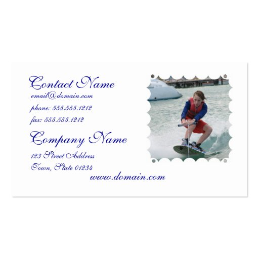 Wakeboarding Youth Business Cards