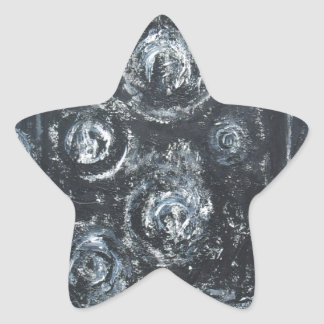 Wakes of Swirls abstract expressionism Star Stickers