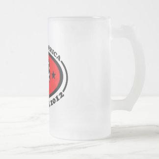 WAKEUP AMERICA FROSTED GLASS MUG