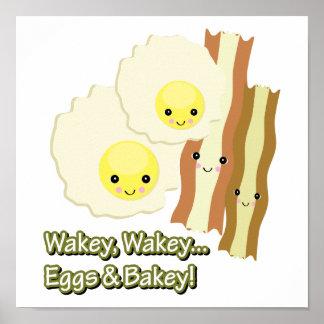 wakey wakey eggs n bakey print
