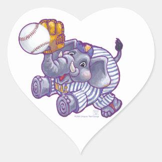 WAL Baseball Heart Stickers