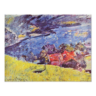 Walchensee By Corinth Lovis (Best Quality) 11 Cm X 14 Cm Invitation Card