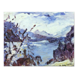 Walchensee With Mountains And Shore Slope By Corin 11 Cm X 14 Cm Invitation Card
