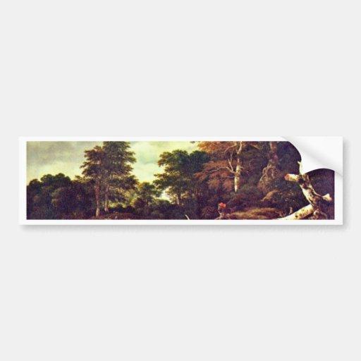 Wald By Ruisdael Jacob Isaaksz. Van Bumper Sticker