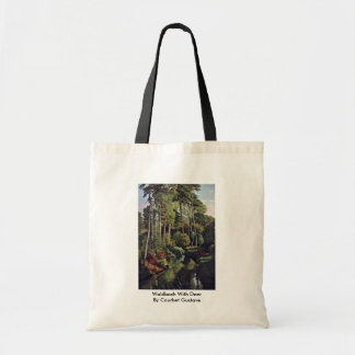 Waldbach With Deer By Courbet Gustave Bags
