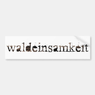 Waldeinsamkeit Bumper Sticker