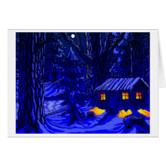 Walden - Night Greeting Card