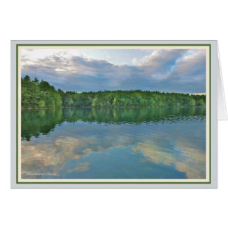 Walden Pond: Bluebird carries the sky on his back. Card