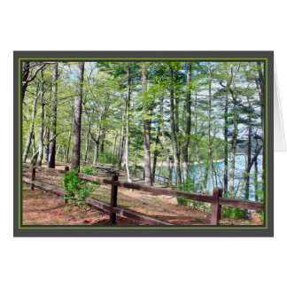 Walden Pond: Card