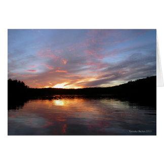 Walden Pond Fiery Sunset Card