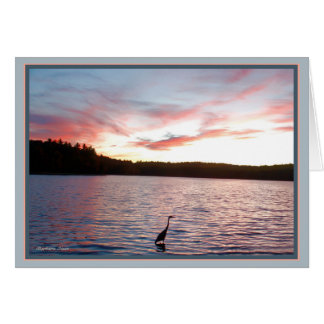 Walden Pond: Heron with quote Card