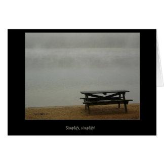 Walden Pond Simplify, simplify! card