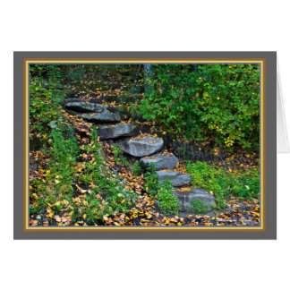 Walden Pond: Steps-Greeting Card