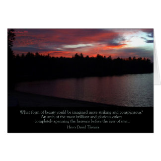 "Walden Pond ""What Form of Beauty"" card"
