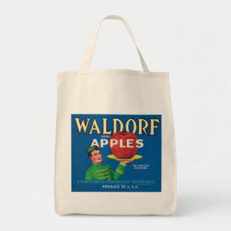 Waldorf Apples Vintage Label Canvas Bags