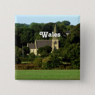 Wales 15 Cm Square Badge