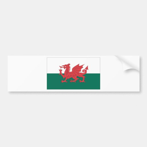 Wales Bumper Stickers