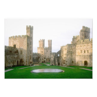 Wales, Caernarfon castle, one of Edward's 2 Photo Print
