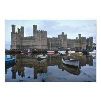 Wales, Caernarfon castle, one of Edward's Photographic Print