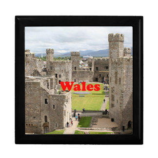 Wales: Caernarfon Castle, United Kingdom Large Square Gift Box