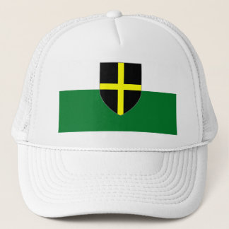Wales Cap - St. David Shield on White & Green
