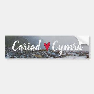 Wales Cariad Cymru Landscape Welsh Snowdon Stream Bumper Sticker