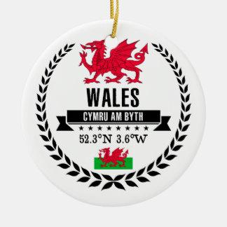 Wales Ceramic Ornament