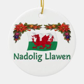 \Wales Christmas Ceramic Ornament