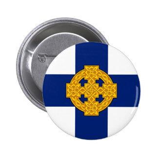 wales church flag welsh british symbol 6 cm round badge