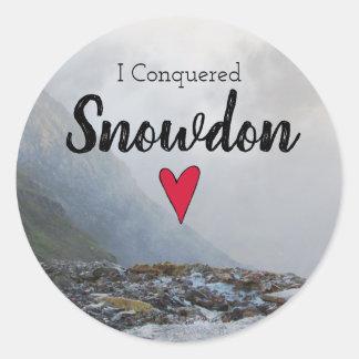 Wales Conquered Snowdon Welsh Stream Souvenir Classic Round Sticker