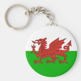 wales country dragon flag welsh british basic round button key ring