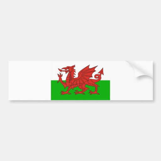 wales country dragon flag welsh british bumper stickers
