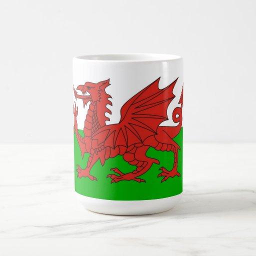 wales country dragon flag welsh british mugs