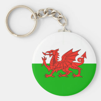 wales country flag british nation welsh symbol basic round button key ring