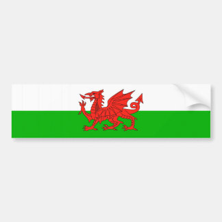 wales country flag british nation welsh symbol bumper sticker